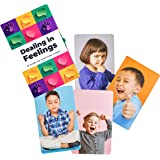 Dealing in Feelings Emotions Cards-Feelings Flash Cards for improving Social Skills, Empathy, and Understanding Facial Expres