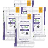 Simpleaf Flushable Wet Wipes | Eco- Friendly, Paraben & Alcohol Free | Hypoallergenic & Safe for Sensitive Skin | Soothing Al