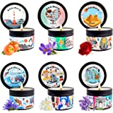 Aromatherapy Candle Gift Set, 6 Pack AharHora Smell the World Series Scented Candle UK JP AU FR IT EG English Pear Japanese P
