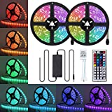 Led Strip Lights, JR INTL 65.6ft/20M RGB LED Light Strip 5050 LED Tape Lights, Color Changing LED Strip Lights with Remote fo