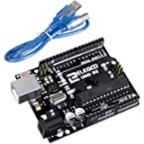 ELEGOO UNO R3 Board ATmega328P ATMEGA16U2 with USB Cable Compatible with Arduino IDE