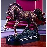 Galloping Bronze Finish Horse Statue Figurine