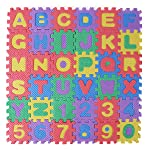 FEESHOW Baby Kids Alphabet Letters and Numbers Foam Floor Puzzle Play Mats Multicolor, 36 Tiles