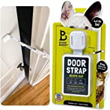 Door Buddy Adjustable Door Strap and Latch - Grey. Dog Proof Litter Box The Easy Way. No Need for Pet Gates or Interior Cat D