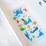 BEEHOMEE Bath Mats for Tub Kids - Large Cartoon Non-Slip Bathroom Bathtub Kid Mat for Baby Toddler Anti-Slip Shower Mats for
