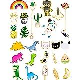 Gejoy 26 Pieces Cute Brooch Pins Cartoon Enamel Pins Set Cute Brooch Lapel Badges for DIY Clothing Bags Backpacks Jackets Hat