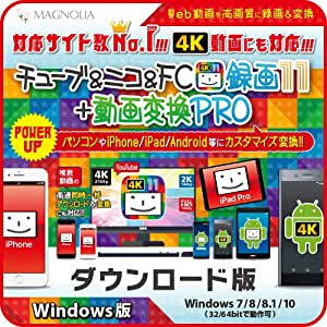 チューブ&ニコ&FC録画11+動画変換PRO Windows版|ダウンロード版