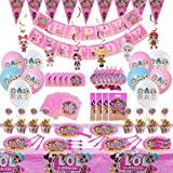 Dream Baby Party 155Pcs Party Supplies Set, Surprise Birthday Decoration, Surprise Party Decoration, Birthday Decor, Girl Chi