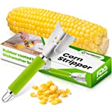 Yarmoshi Corn Stripper, Peeler, Corn on the Cob Zipper Tool to Remove Kernels - Stainless Steel with Rubber Coated, Non-Slip