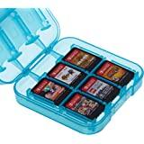 Amazonベーシック Nintendo Switch ゲームソフト ゲームカード収納ケース 24点収納可 9×9×3cm ブルー