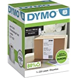 Dymo S0904980 LW Extra Large Shipping Labels for LabelWriter 4XL Label Maker, 104mm x 159mm, Roll of 220, Black Print on Whit