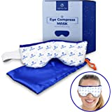 Eye Mask - Microwavable Compress Pad with Storage Pouch for Soothing Heat Therapy - Ultra Absorbent, Washable and Reusable -