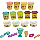 """Play-Doh Bulk """"Ice Cream"""" Colors 13-Pack of Non-Toxic Modeling Compound with Color Burst Plus 6 Tools, 2 and 3-Ounce Cans (Am"""