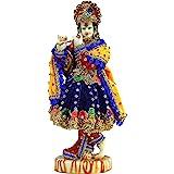 """eSplanade Hand Carved God Kishan Krishna Murti Idol Statue Sculpture (11"""")"""