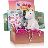 The Memory Building Company Unicorn Gifts for Girls in a Giant Surprise Box with a Unicorn Plush, Unicorn Coloring Book with