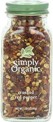 Simply Organic Crushed Hot Red Pepper Large Glass, 45g