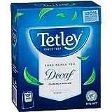 Tetley Decaffeinated Black Tea 100 Tea Bags, 185g