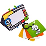Baby Einstein Flip For Art High Contrast Floor Activity Mirror with Take Along Cards, Newborn Plus