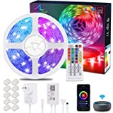 Alexa WiFiLED Strip 20M / 65.6Ft, Ultra Long ALED LIGHT RGB LED Light Strip, Smart Phone APP Controlled Music Sync, Work wit