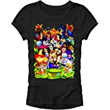 Disney Villains Group Collage Gaston Ursula Maleficent Hades Scar Hook Junior T-Shirt