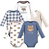 HUDSON BABY Boys Unisex Baby Long Sleeve Cotton Bodysuits, Polar Bear Pack, 0-3 Months (3M)