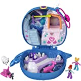 Polly Pocket Freezin' Fun Narwhal Compact with Fun Reveals, Micro Polly and Lila Dolls, Husky Dog & Sled, Polar Bear Figure &