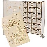 クリスマス 飾り アドベントカレンダー 2020 鍵付木製BOXカレンダー 日替わりカレンダー (サンタクロース)