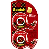 Scotch Super-Hold Tape, 2 Rolls, Transparent Finish, 50% More Adhesive, Trusted Favorite, 3/4 x 600 Inches, Dispensered (198D