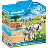Playmobil Zebras with Foal Colourful, 14.2 x 4.1 x 14.2 cm