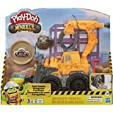 Play-Doh Wheels Front Loader Toy Truck for Kids Ages 3 and Up with Non-Toxic Play-Doh Sand Compound and Classic Play-Doh Comp