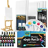 KEFF Creations Complete Acrylic Paint Kit- 54 Piece Professional Artist Painting Supplies Set, Art Painting, 24 Acrylic Paint