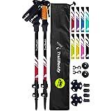 TrailBuddy Trekking Poles - 2-pc Pack Adjustable Hiking or Walking Sticks - Strong, Lightweight Aluminum 7075 - Quick Adjust