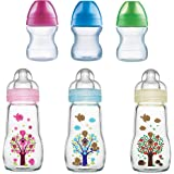 MAM Feel Good Baby Glass Bottle, Capacity Clear, 260ml