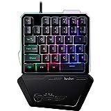 ゲーミングキーボード 片手 LEDバックライト RGB 有線キーボード 持ち運び便利 for Windows&Macを対応