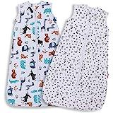 Lictin Baby Sleeping Bag 0.5 Tog- 2 Pcs Baby Wearable Blanket Sleeping Sack Baby Swaddle Sack with Adjustable Length (90-110c