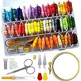 [RITALT] 刺繍糸 セット 収納 60色 刺繍枠12cm 刺繍キット 初心者 クロスステッチ