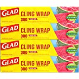 Glad® ClingWrap Plastic Food Wrap - 300 Square Foot Roll - 4 Pack (Package May Vary)