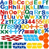 137 Pieces Magnetic Letters Numbers and Shapes Fridge Magnetic Phonics Letter Refrigerator Magnets Set for Ages Over 3 Early