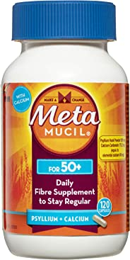Metamucil Daily Fibre Supplement Capsules for 50+ 120 Pack