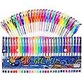 Gel Pens 30 Colors Gel Marker Set Colored Pen with 40% More Ink for Adult Coloring Books Drawing Doodling Crafts Scrapbooks B