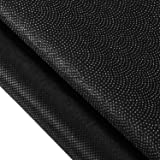 Non-Woven Fusible Interfacing Polyester Interfacing Fabric Single-Sided Iron on Interfacing for DIY Supplies (Black, 40 Inch