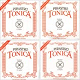 Pirastro Tonica New formula 4/4 Size Violin Strings 4/4 Size Set Aluminum Ball End E
