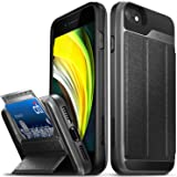 Vena iPhone SE 2020 / iPhone 8 7 Wallet Case, vCommute (Military Grade Drop Protection) Flip Leather Cover Card Slot Holder w