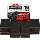 "X-PROTECTOR Non Slip Furniture Pads – Premium 16 pcs 2"" Furniture Grippers! Best SelfAdhesive Rubber Feet Furniture Feet – Id"