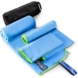 Microfiber Travel Towel 3 Sizes in 1 Pack, Quick Drying Towel, Quick & Fast Dry Travel Towel for Camp, Sweat, Gym, Sports, Wo
