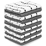"""Zeppoli Kitchen Towels 12 Pack - 100% Soft Cotton -15"""" X 25"""" - Dobby Weave -Great for Cooking in Kitchen and Household Cleani"""