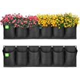 ANGTUO Hanging Garden Planter with 6 Pockets, New Layout Waterproof Wall Hanging Flowerpot Bag is The Perfect Solution for Ga