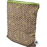 Planet Wise Wet Diaper Bag, Lime Cocoa Bean, Medium