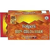 Folgers 100% Colombian, Medium-Dark Roast Ground Coffee Brick, 10.3 Ounce (Pack of 12)