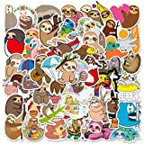 Water Bottle Cute Sloth Stickers 50pcs Lovely Boy and Girl Stickers Laptop Water Bottle Luggage Snowboard Bicycle Skateboard